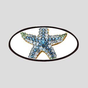 Rhinestone Starfish Costume Jewelry Sapphire Patch