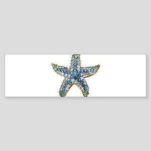 Rhinestone Starfish Costume Jewelry Bumper Sticker