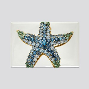 Rhinestone Starfish Costume Jewelry Sapphi Magnets