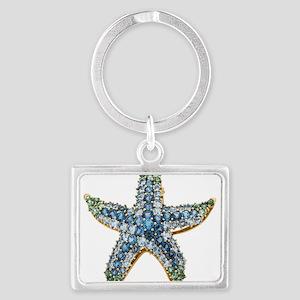 Rhinestone Starfish Costume Jewelr Keychains