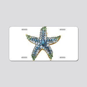 Rhinestone Starfish Costume Aluminum License Plate