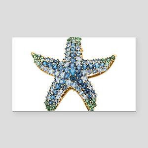 Rhinestone Starfish Costume J Rectangle Car Magnet