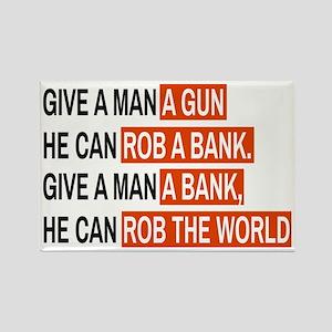 Banks Rob The World Magnets