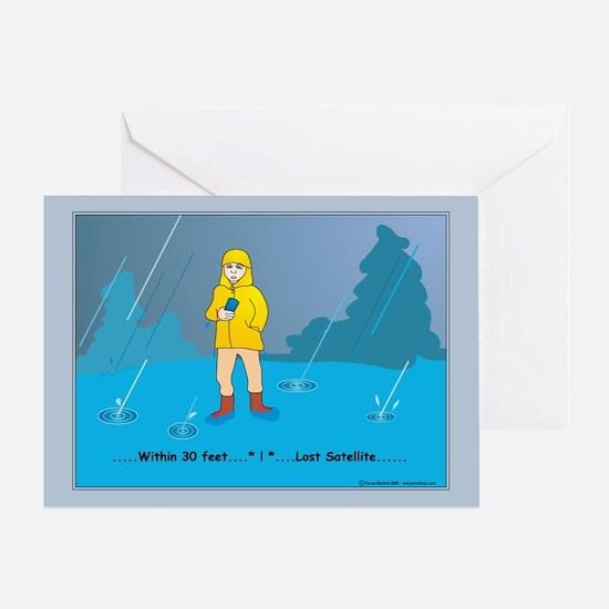Rain Geocacher Greeting Card