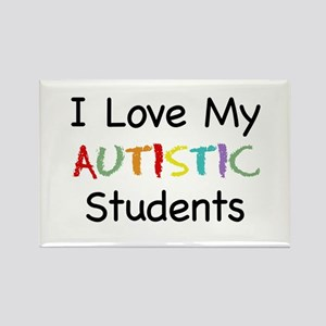 Love Autistic Students - Rectangle Magnet