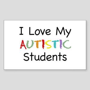 Love Autistic Students - Rectangle Sticker
