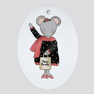 City Mouse Oval Ornament