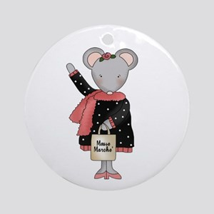 City Mouse Ornament (Round)