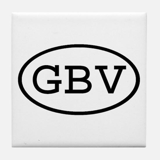GBV Oval Tile Coaster