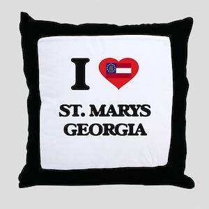 I love St. Marys Georgia Throw Pillow