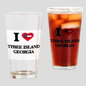 I love Tybee Island Georgia Drinking Glass