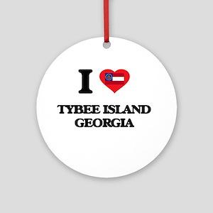 I love Tybee Island Georgia Ornament (Round)