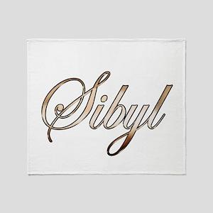 Gold Sibyl Throw Blanket