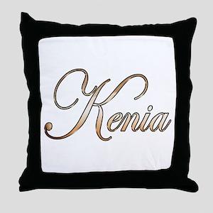 Gold Kenia Throw Pillow