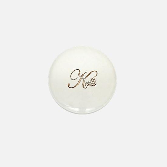 Gold Kelli Mini Button