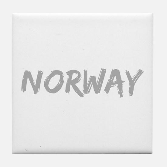 Tourist Norway Souvenir Tile Coaster