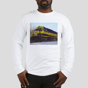 Alaska RR Railroad Locomotive Train Long Sleeve T-