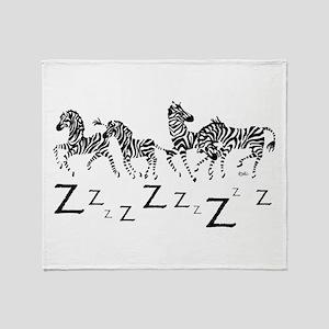 z-for white Throw Blanket