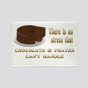 CHOCOLATE AND PRAYER Rectangle Magnet