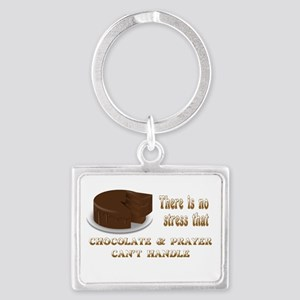 CHOCOLATE AND PRAYER Landscape Keychain