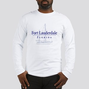Ft Lauderdale Sailboat - Long Sleeve T-Shirt
