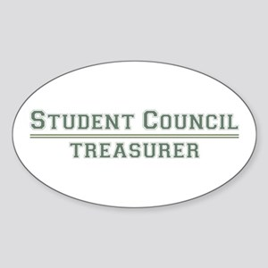 Student Council - Treasurer Oval Sticker