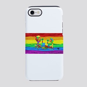CANCER Zodiac Gay Rainbow Art iPhone 7 Tough Case