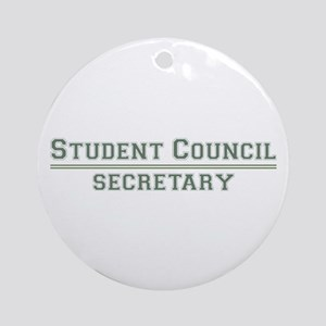 Student Council - Secretary Ornament (Round)