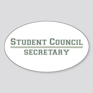 Student Council - Secretary Oval Sticker