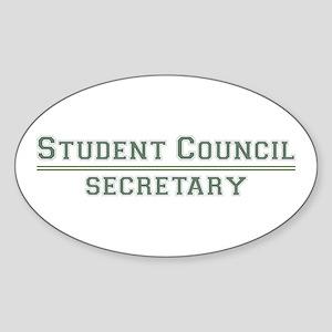 Student Council - Secretary Oval Sticker