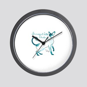 Siamese innocent little darlings cat Wall Clock