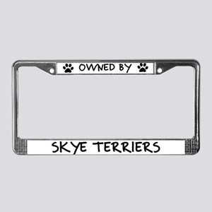Owned by Skye Terriers License Plate Frame