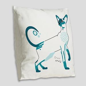 Siamese cat Burlap Throw Pillow