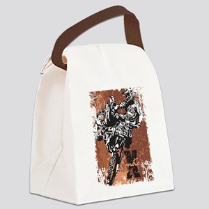 Motocross Grunge Canvas Lunch Bag