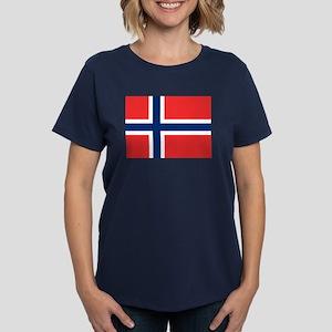 Flag of Norway Women's Dark T-Shirt