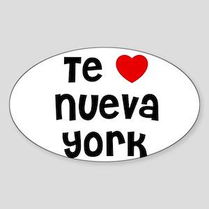 Te * Nueva York Oval Sticker