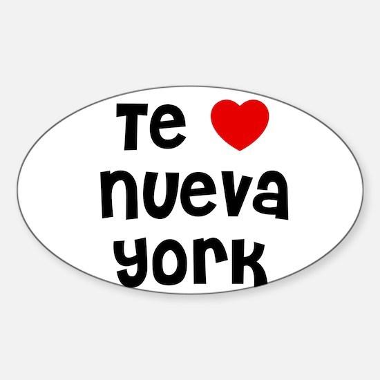 Te * Nueva York Oval Decal