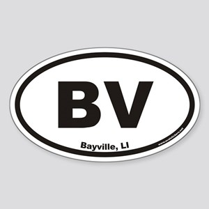 Bayville BV Euro Oval Sticker