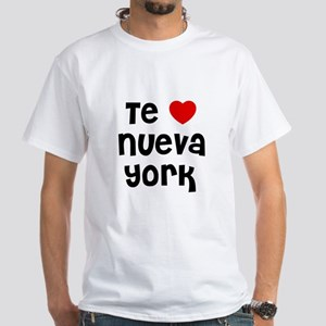 Te * Nueva York White T-Shirt
