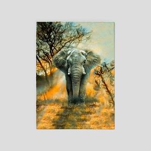 Elephant Sunrise 5'x7'area Rug