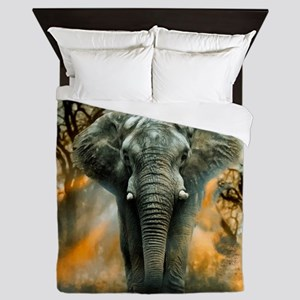 Elephant Sunrise Queen Duvet