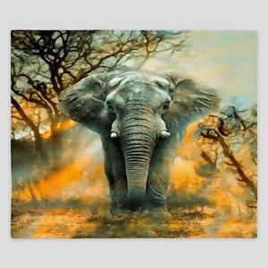Elephant Sunrise King Duvet