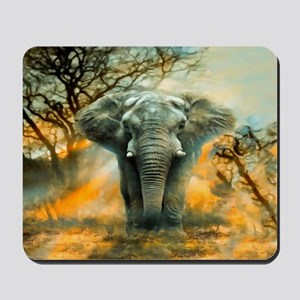 Elephant Sunrise Mousepad