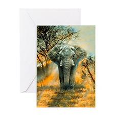 Elephant Sunrise Card Greeting Cards