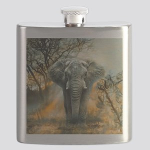 Elephant Sunrise Flask