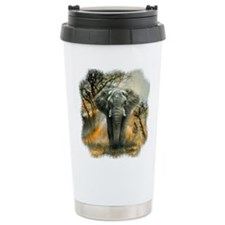 Elephant Sunrise Stainless Steel Travel Mug