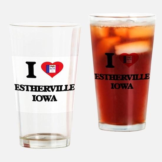 I love Estherville Iowa Drinking Glass