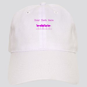 Distressed Pink Flamingos (Custom) Baseball Cap