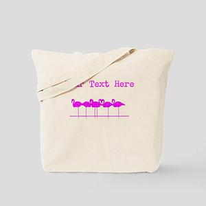 Distressed Pink Flamingos (Custom) Tote Bag