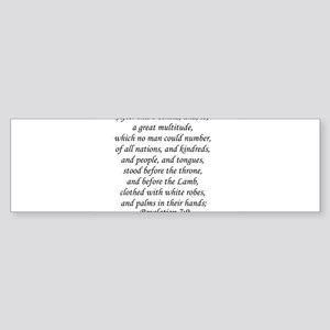 Revelation 7:9 Bumper Sticker